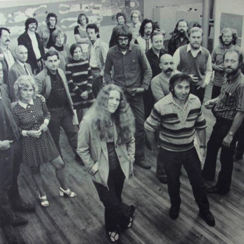70s - Angelo Savelli with teachers at the University of WI-STOUT in Wisconsin