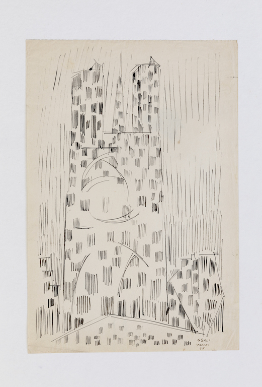 Parigi, 1948 - China su carta, cm 39,7 x 27 - Paris, 1948 - Ink on paper, cm 39,7 x 27